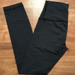 Lululemon high rise black green leggings pants